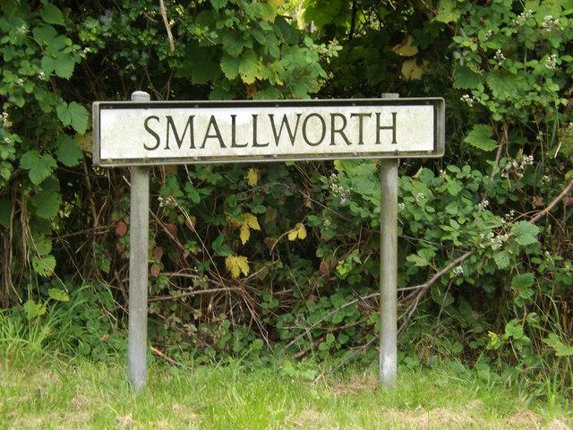 Smallworth sign