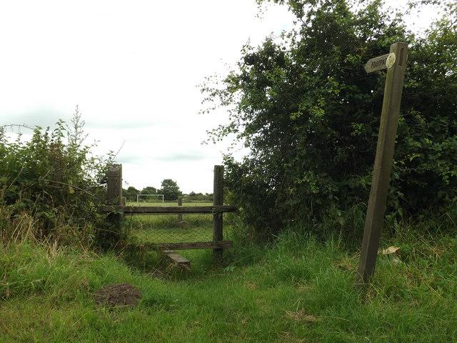 Fen Lane footpath to Smallworth