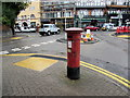 ST1871 : Victorian pillarbox near Penarth railway station by Jaggery