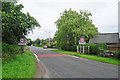 NY4459 : Village boundary signs, Low Crosby by Rose and Trev Clough