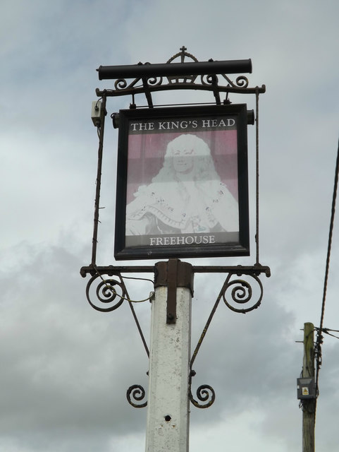 The Kings Head Public House sign