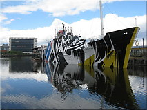 NT2776 : A Dazzle Ship at Leith by M J Richardson