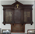 TQ1480 : St Mary, Hanwell - War Memorials WWI & WWII by John Salmon
