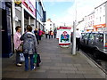 H4572 : Shoppers in Market Street, Omagh by Kenneth  Allen