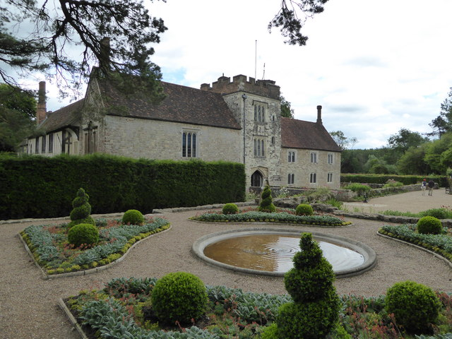 Ightham Mote from the formal garden