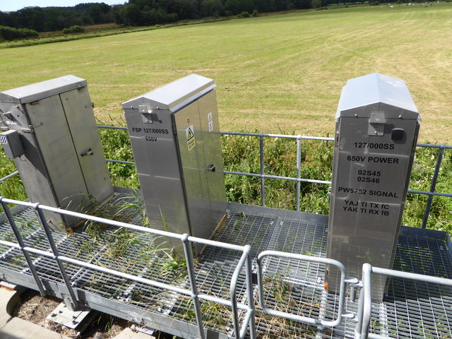 Trackside switchgear south of the River Frome
