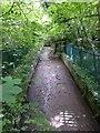 NZ2679 : Overflow spillway by Russel Wills