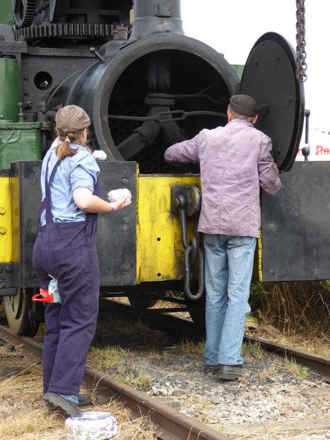 Welland Steam Rally - cuisine a la locomotive