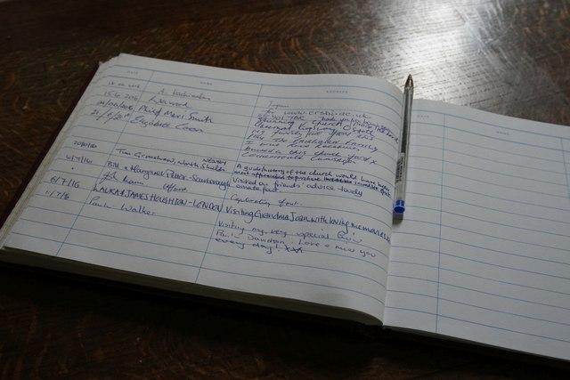 St Nicholas' Church: the visitors' book