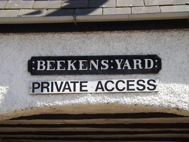 Beekens Yard sign