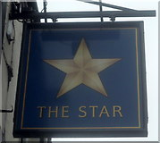 SK3670 : Sign for the Star public house, Brampton by JThomas