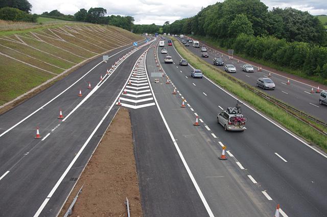 M6 north from Foundry Lane bridge