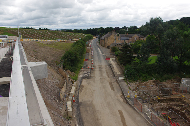 Heysham to M6 link road construction