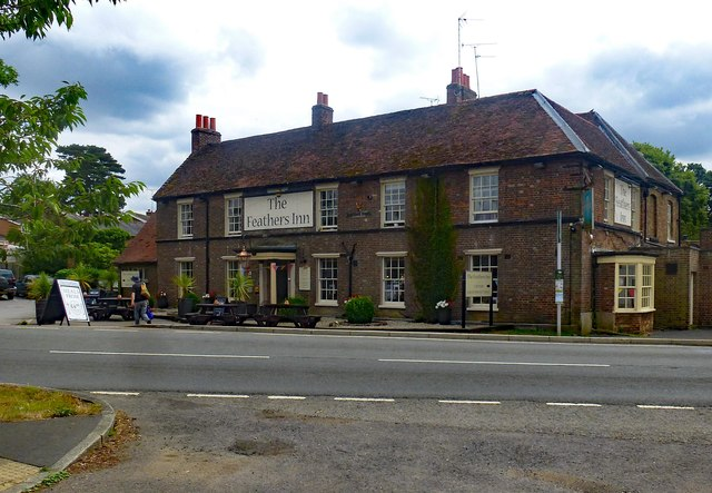 """""""The Feathers Inn"""" public house, Wadesmill"""