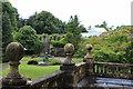 ST0972 : Statue & edge of walled gardens, Dyffryn Gardens by M J Roscoe