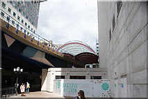 TQ3780 : View of Canary Wharf DLR station from Mackenzie Walk by Robert Lamb