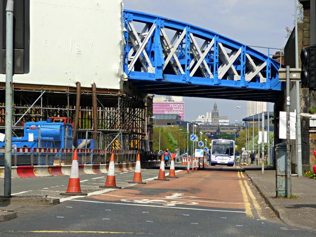 Gorbals Street railway bridge renovation