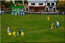 SX9265 : Torquay : Babbacombe Model Village - Village Green by Lewis Clarke