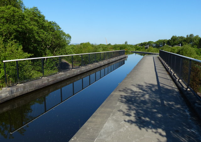 Union Canal crossing the Greenbank Aqueduct