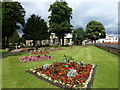 TF4609 : St Peter's church gardens - Wisbech in Bloom 2016 by Richard Humphrey