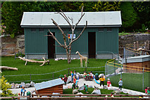 SX9265 : Torquay : Babbacombe Model Village - Zoo Scene by Lewis Clarke