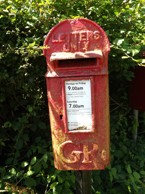 Low Common George V  Postbox