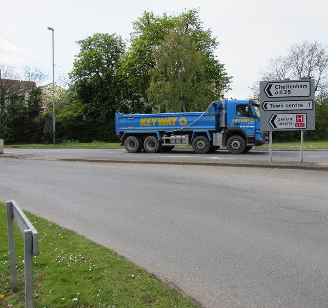 Keyway lorry in Cheltenham