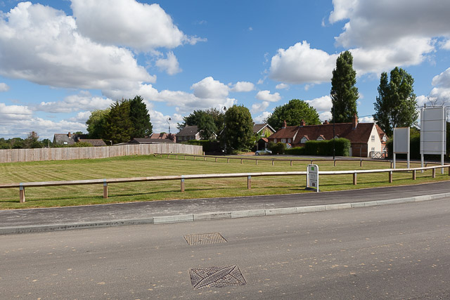 The green at Crowdhill Green housing development