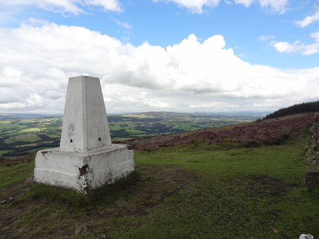 Trig point on Spire Hill