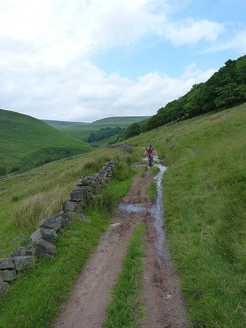Bridleway track below Turn Edge