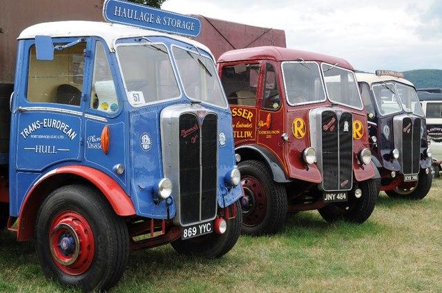 Vintage lorries at Welland Steam Rally