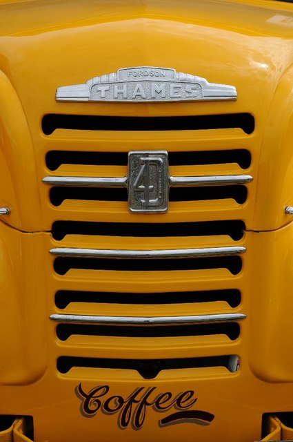 Grille of a Fordson Thames lorry