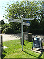 TM0587 : Roadsign on Kenninghall Road by Adrian Cable