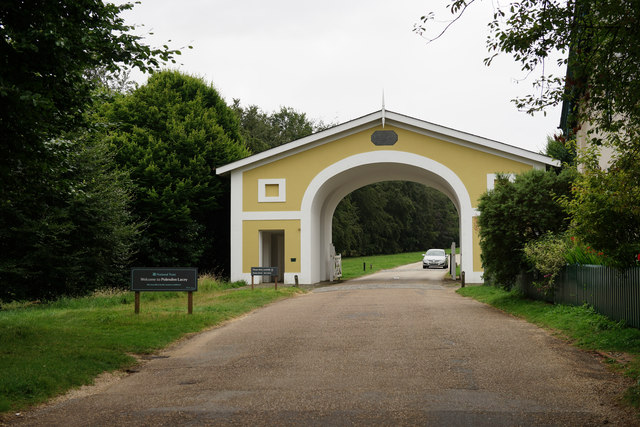 Entrance to Polesden Lacey