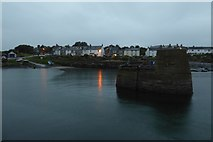 NU2520 : Breakwater at Craster by DS Pugh