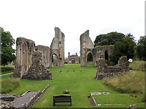 ST5038 : Glastonbury Abbey (view from the east) by Bill Harrison