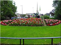 SO8454 : Flowerbed (1), Cripplegate Park, New Road, Worcester by P L Chadwick