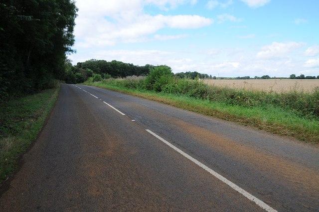 The B4031 near Hill Farm