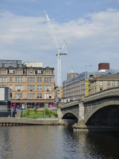 Crane in central Glasgow