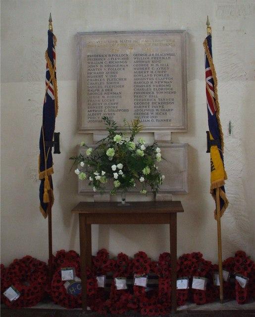 Avening War Memorial, Gloucestershire