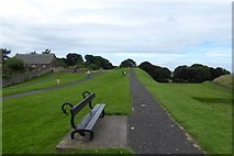NU0052 : Bench on the ramparts by DS Pugh