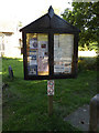 TM0375 : St.Mary s Rickinghall Inferior Church Notice Board by Adrian Cable