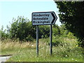 TM0374 : Roadsign on Snape Hill by Adrian Cable