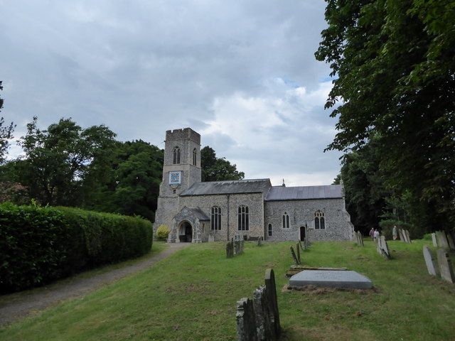 St. Mary the Virgin, Saxlingham Nethergate: late July 2016