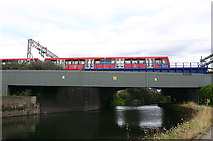 TQ3783 : Bridges over River Lea (or Lee) east of Stratford by David Kemp