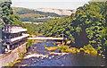 SJ1943 : Eastward down River Dee at Berwyn, 1995 by Ben Brooksbank