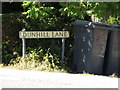 TL9974 : Dunhill Lane sign by Adrian Cable