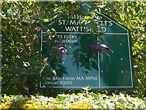 TM0174 : St.Margaret's Church sign by Adrian Cable