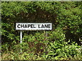 TM0475 : Chapel Lane sign by Adrian Cable
