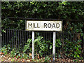 TM0475 : Mill Road sign by Geographer